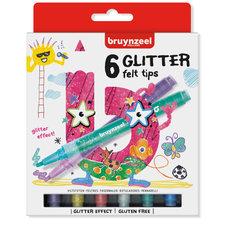 Bruynzeel Glitter Viltstiften 6 Stuks