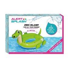 Alert Splash Opblaasbare Dino Eiland met 5 Stickers 310x270x175 cm
