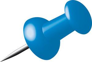 Alco AL-662-15 Pushpins Doosje A 40 Stuks Donkerblauw