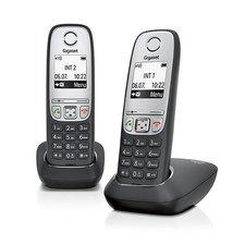 Gigaset A415 Duo Draadloze Telefoon 2 Stuks Zwart/Zilver