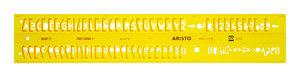 Aristo AR-5301/7 Lettersjabloon 7mm H-profiel Schriftvorm B Recht