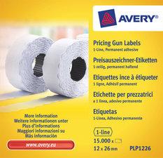 Avery AV-PLP1226 Prijstangetiketten Permanent 26x12mm Wit 10 Rol In Doos