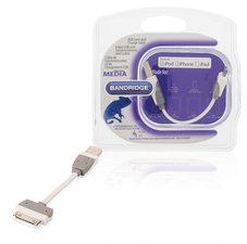 Bandridge BBM39100W01 Data En Oplaadkabel Apple Dock 30-pins - A Male 0.10 M Wit