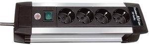 Brennenstuhl Bn-1391000014 4-voudige Tafelcontactdoos Aluminium