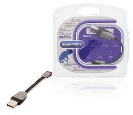 Bandridge BBM39300B01 Data En Oplaadkabel Apple Lightning - A Male 0.10 M Zwart