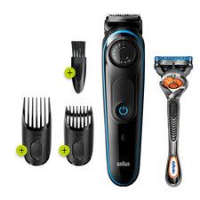 Braun BT3240 Baard-Haartrimmer Zwart/Blauw