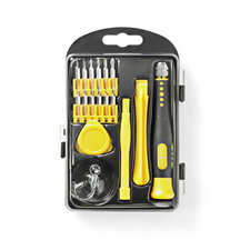 Nedis CSTS10017 Toolkit 17-in-1 Voor Reparatie Van Pc, Smartphone En Tablet