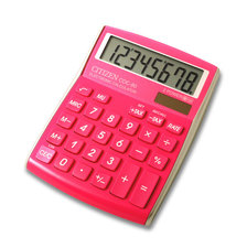 Citizen CI-CDC80PK Calculator CDC80PK C-series Desktop ColourLine Pink