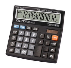 Citizen CI-CT555N Calculator CT555N Desktop BusinessLine Black