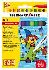 Eberhard Faber EF-551010 Viltstift Magic Marker 9 Kleuren En 1 Tovermarker