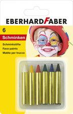 Eberhard Faber EF-579106 Schminkstiften Klein, Set 6 Kleuren Op Blisterkaart