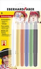 Eberhard Faber EF-579107 Schminkstiften Draaibaar Set 6 Kleuren Op Blisterkaart