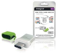 Integral INFD32GBFUS3C Usb Stick Usb 3.0 32 Gb Aluminium/groen
