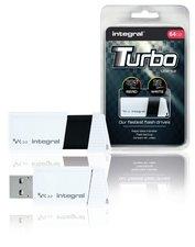 Integral INFD64GBTW3.0 Usb Stick Usb 3.0 64 Gb Wit/zwart