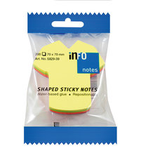 Info Notes IN-5829-39 Info Shaped Sticky Notes 68x68 't-shirt' Assorti 200 Vel