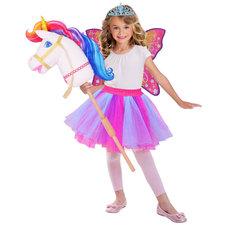 Barbie Regenboog Eenhoorn Verkleedset 3-10 Jaar