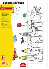 Eberhard Faber Puzzel Spel + 6 Kleurpotloden Doos 6 Stuks
