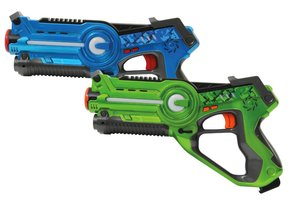 Jamara JAM-410036 Lasergevecht Set + Licht & Geluid Blauw/Groen