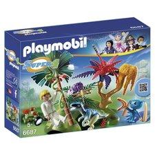 Playmobil 6687 Super 4 Lost Island met Alien en Velociraptor