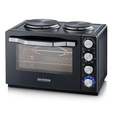 Severin TO2065 Oven met Kookplaten 30L Zwart/RVS