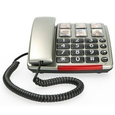 Profoon TX-560 Big Button Telefoon + LED-Licht Zilver
