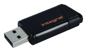 Integral INFD32GBPULOR Usb Stick Usb 2.0 32 Gb Zwart/oranje