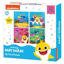 Baby Shark Mijn Eerste 4in1 Puzzel 4-16 Stukjes