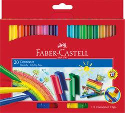 Faber Castell 20 Waterbasis Viltstiften Connector Doos 5 Stuks
