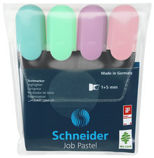Schneider S-115098 Highlighter Job Pastel Kleur Ass. Etui A 4st.