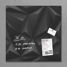 Sigel SI-GL257 Glasmagneetbord Artverum 480x480x15mm Black Diamond