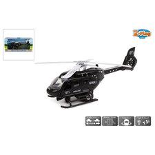 2-Play Traffic Pull-Back Helikopter + Licht en Geluid Zwart