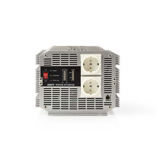 Nedis PIMS400012 Stroomomvormer Gemodificeerde Sinusgolf 12 V Dc - 230 V Ac 4000 W 2x Schuko-uitgang Afstandsbediening