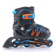 Alert Inline Skates Maat 35-38 Zwart/Blauw/Oranje