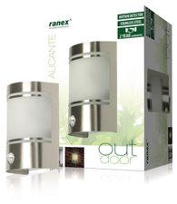 Ranex Ra-5000299 Wandlamp met Bewegingsmelder Geborsteld Rvs Glas (5000.299)