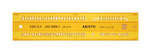 Aristo AR-5301/2 Lettersjabloon 2,5mm H-profiel Schriftvorm B Recht