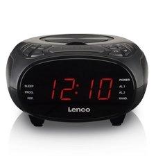 Lenco CR-740BK Wekkerradio met CD-Speler Zwart