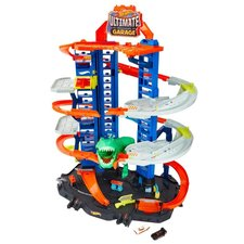 Hot Wheels City Robo Beasts Ultieme Garage met T-Rex + 2 Auto's