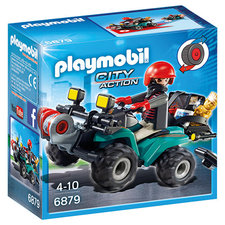 Playmobil 6879 Bandiet op Quad met Lier