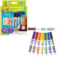 Crayola Mini Kids Afwasbare Stiften met Bolle Punt 8 Stuks