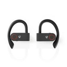 Nedis HPBT8051BK Volledig Draadloze Bluetooth®-sport Oordopjes 8 Uur Afspeeltijd Oorhaakjes Spraakbediening Charging Case Zwart