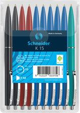Schneider S-3081-2-3-4 Balpen K15 10s Assorti Kleuren In Headerbag