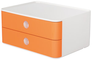HAN HA-1120-81 Smart-box Allison Met 2 Lades Abrikoos Oranje, Stapelbaar
