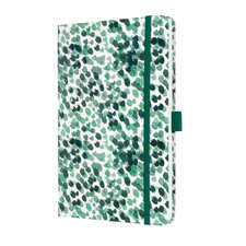 Sigel SI-JN333 Notitieboek Jolie Beauty A5 Hardcover Gelinieerd Groene Druppels 174 Blz 80g