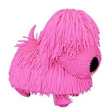 Jiggly Pup Rubberachtige Hond + Geluid Roze