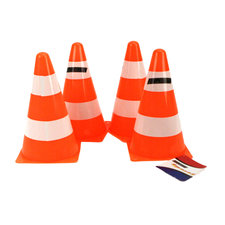 Alert Set van 4 Pylonnen Oranje