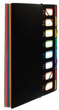 Viquel VI-118867-05 Sorteermap Rainbow Class ® A4 Zwart Met 8 Assorti Kleuren Tabs