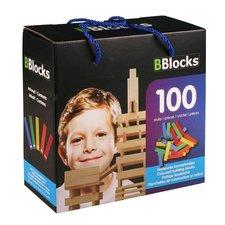 BBlocks Houten Gekleurde Bouwplankjes 100 Stuks