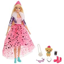 Barbie Princess Adventure Prinses Barbie + Huisdier en Accessoires
