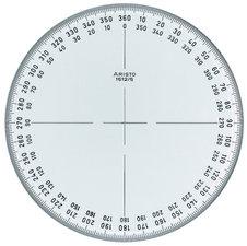 Aristo AR-1512/5 Kompasroos 360° 12 Cm Glashelder Plexiglas