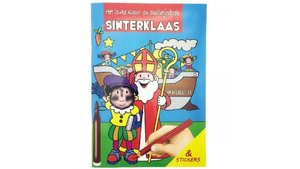 Sinterklaas Kleur- en Spelletjesboek met Stickers A4